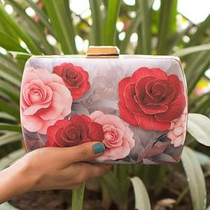Rose Print Minimalist Clutch - IL36c