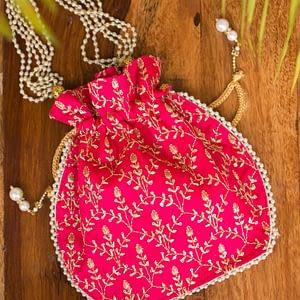 Beautiful Ethnic Potli Bag - IL50bb