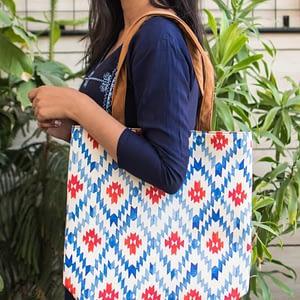 Simple Bright Ethnic Print Bag - IL93shb