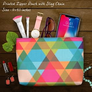 Colorful Printed Sling Pouch - IL53p