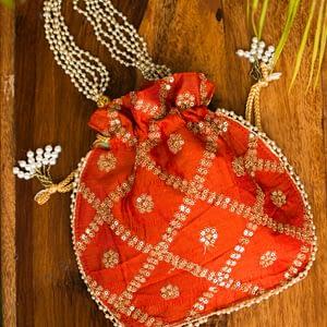 Bold Ethnic Fancy Potli Bag - IL45bb