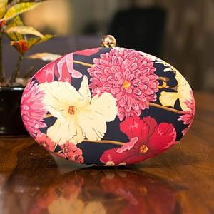 Adorable Floral Oval Clutch - IL89pc