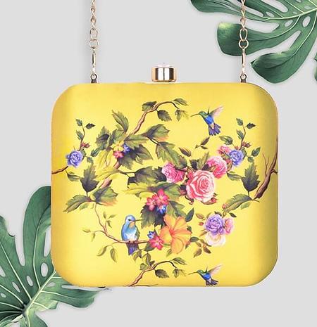 Beautiful Semi-floral Clutch - IL14pc