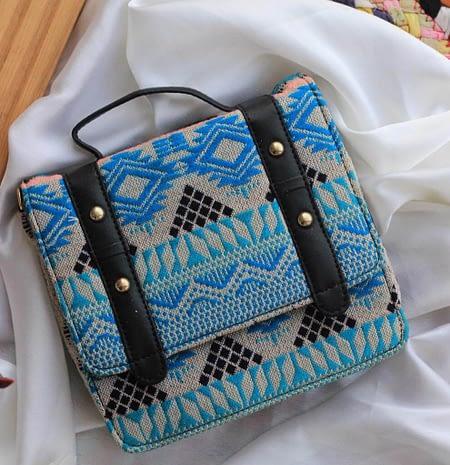 Bold Classic Boho Blue Sling Bag - BW189sb