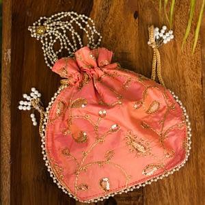 Glamorous Coral Potli Bag - IL23bb