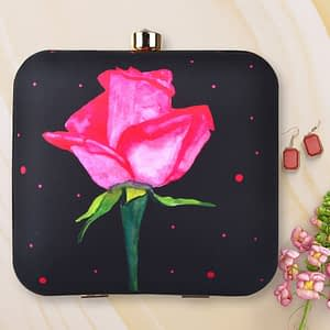 Stunning Rose Printed Clutch - IL54pc