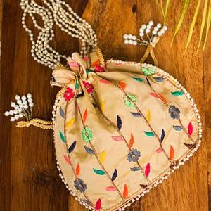 Basic Colorful Potli Bag - IL76bb