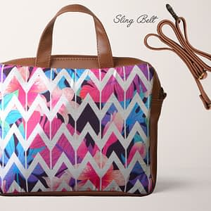 Colorful Zigzag Print Sling Bag - IL26sb